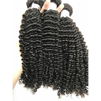 100% Real Human Hair Virgin Peruvian Hair Extensions Kinky Curl Weave Tight Curly