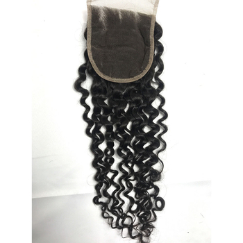 The Best Virgin Peruvian Hair Natural Curly Extensions Human Hair Weave with Closure