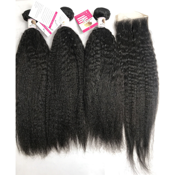 100% Unprocessed Virgin Human Hair Kinky Straight Black Women Human Hair Extensions