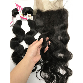 The Best Quality Virgin Peruvian Body Wave Hair Bundles with Human Hair Weave with Closure