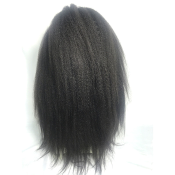250% Density Peruvian Virgin Hair Lace Front Full Wigs Human Hair Kinky Straight