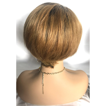Top Quality Pixie Cut Bob Wig 1b/30# Human Hair Wigs for Black Women