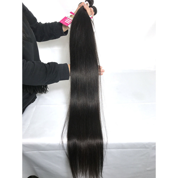 Top Quality 100% Virgin Peruvian Hair Extensions Straight Long Length 4bundles with Closure