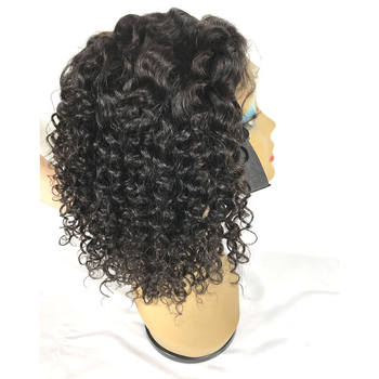 180% Density 4x4 Lace Closure Bob Wig Natural Curly Glueless Lace Front Wigs